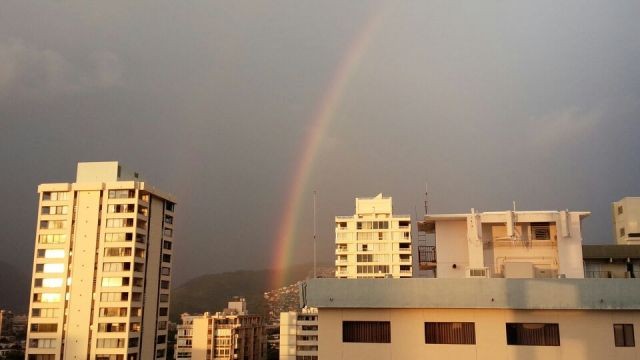 ハワイの虹