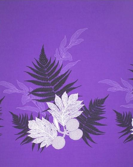 ハワイアンファブリック・紫