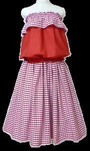 チェックのドレス