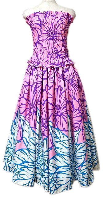 フラダンスドレス ピンク