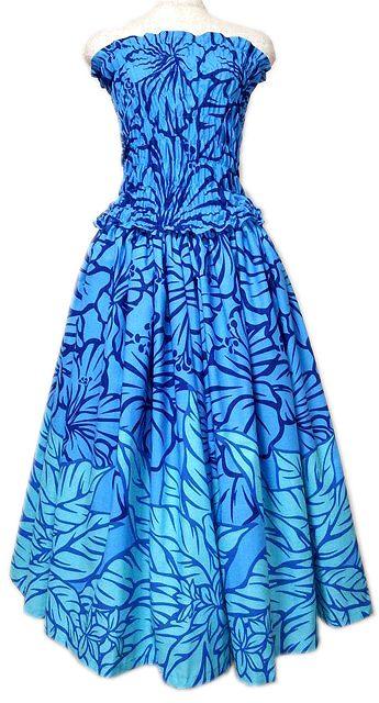セットアップ フラダンスドレス ブルー