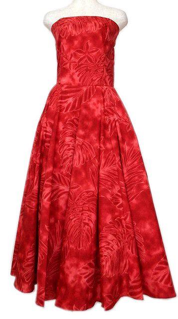 赤のフラダンスドレス