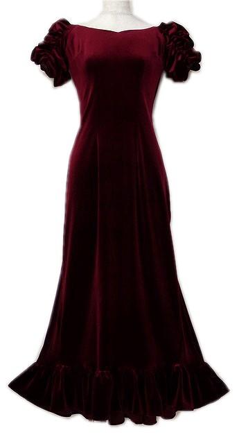 ベルベットドレス写真