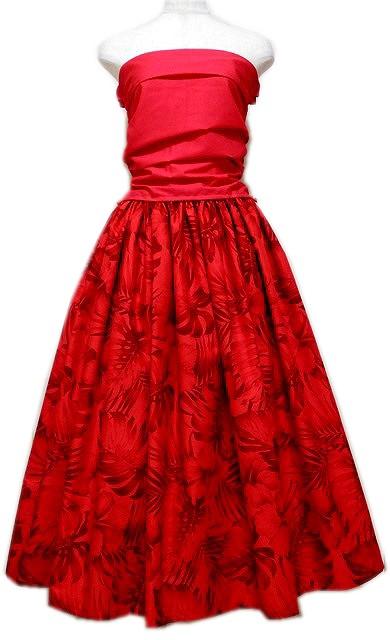 赤のセットアップドレス