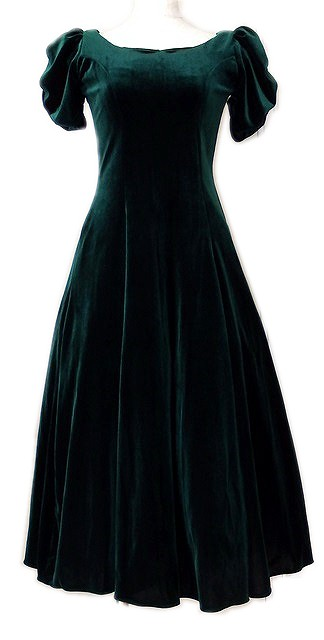 グリーンベルベットドレス