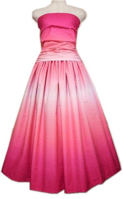 グラデーションドレス ピンク